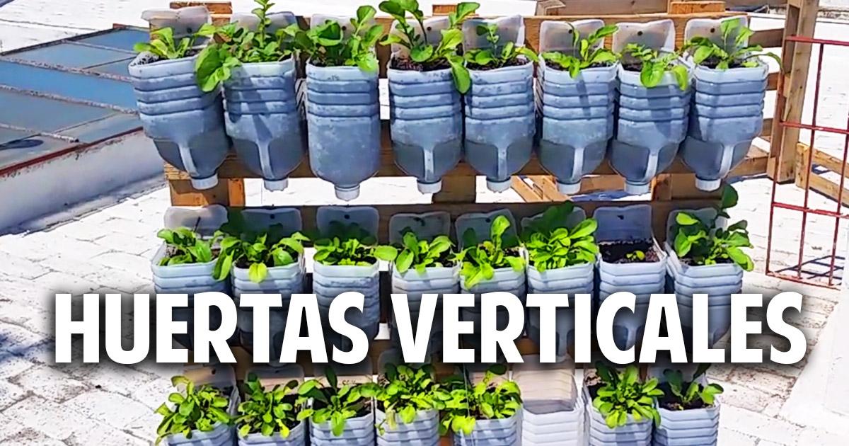 3 huertas verticales geniales con materiales reciclados - Cosas del jardin ...