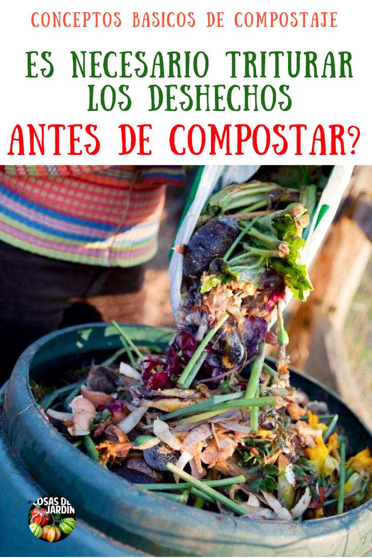 Siempre te comentaron que es importante triturar los deshechos antes de compostar, pero es esto realmente necesario? veamos un poco de biología #Jardín #Jardinería #Huerto #Huertourbano