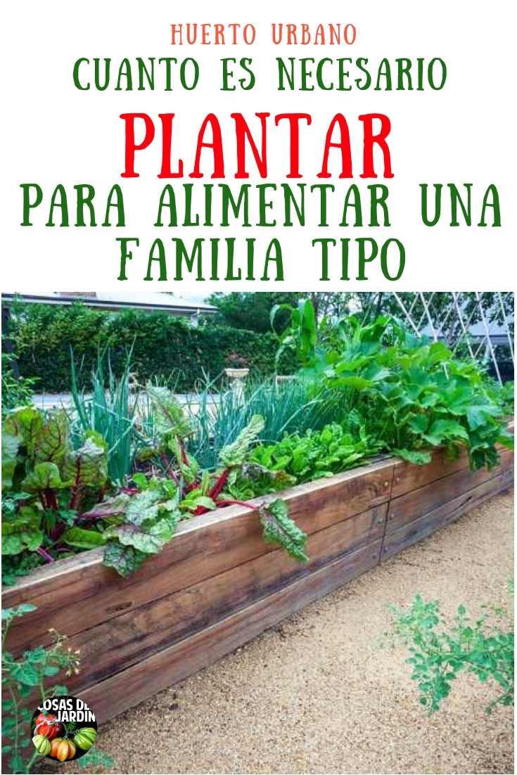 Usa la tabla siguiente como pautas generales de cuánto plantar, para una familia de 4, para las verduras que se cultivan con más frecuencia #Huerto #Huertourbano #Jardin #Jardineria