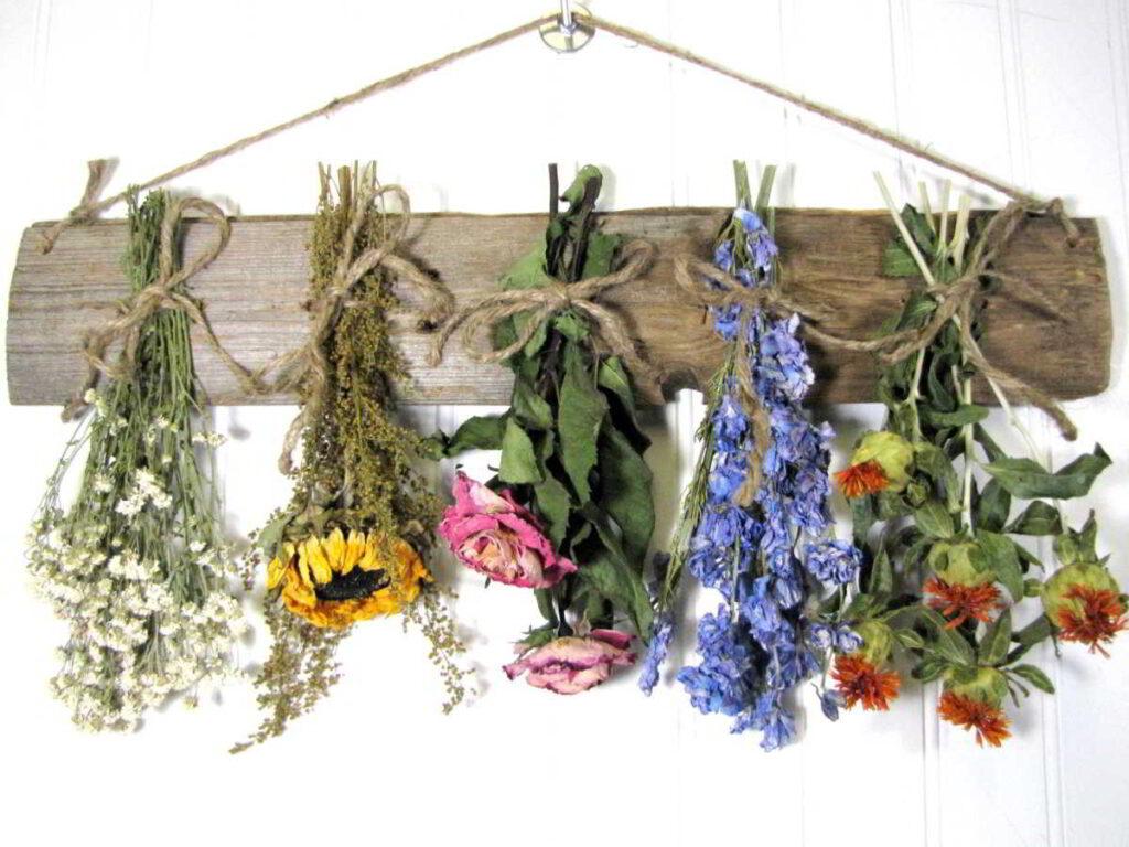 Preservar flores secado al aire
